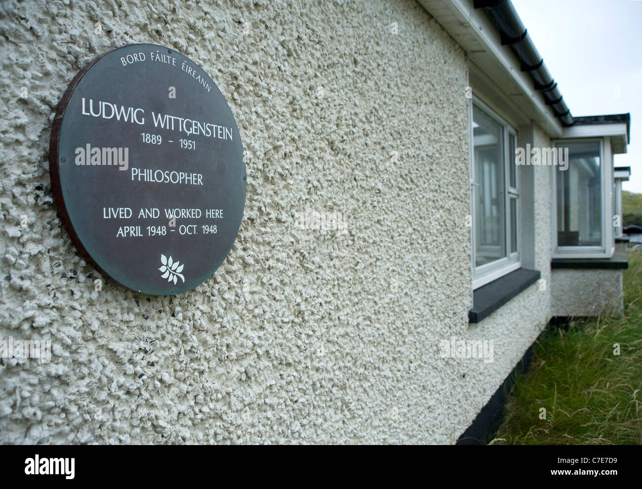 House where Ludwig Wittgenstein lived & worked, Rossroe, Killary Harbour. - Stock Image