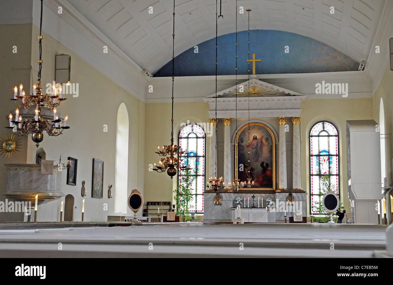 The church of Oulu (Oulun tuomiokirkko) - Stock Image