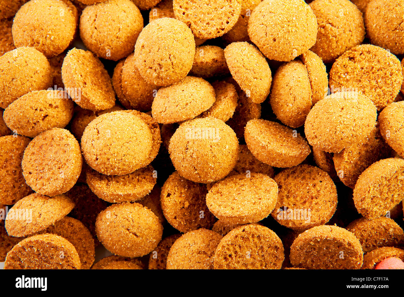 background of typical dutch sweets: pepernoten (ginger nuts
