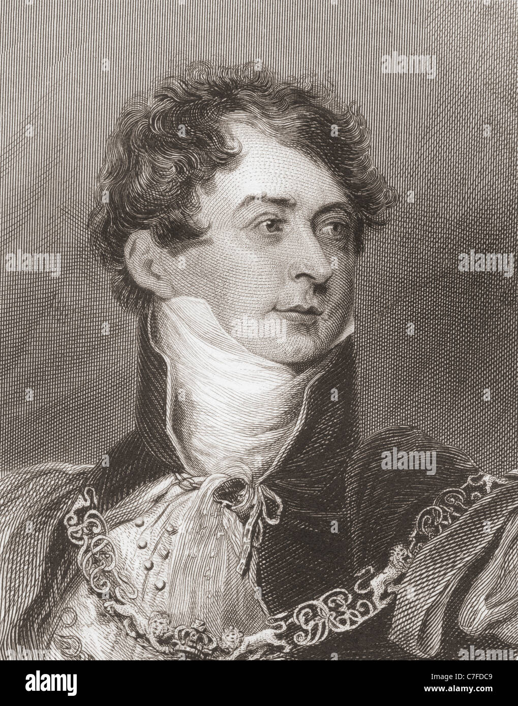 George IV, George Augustus Frederick,  1762 – 1830.  King of the United Kingdom of Great Britain and Ireland. - Stock Image