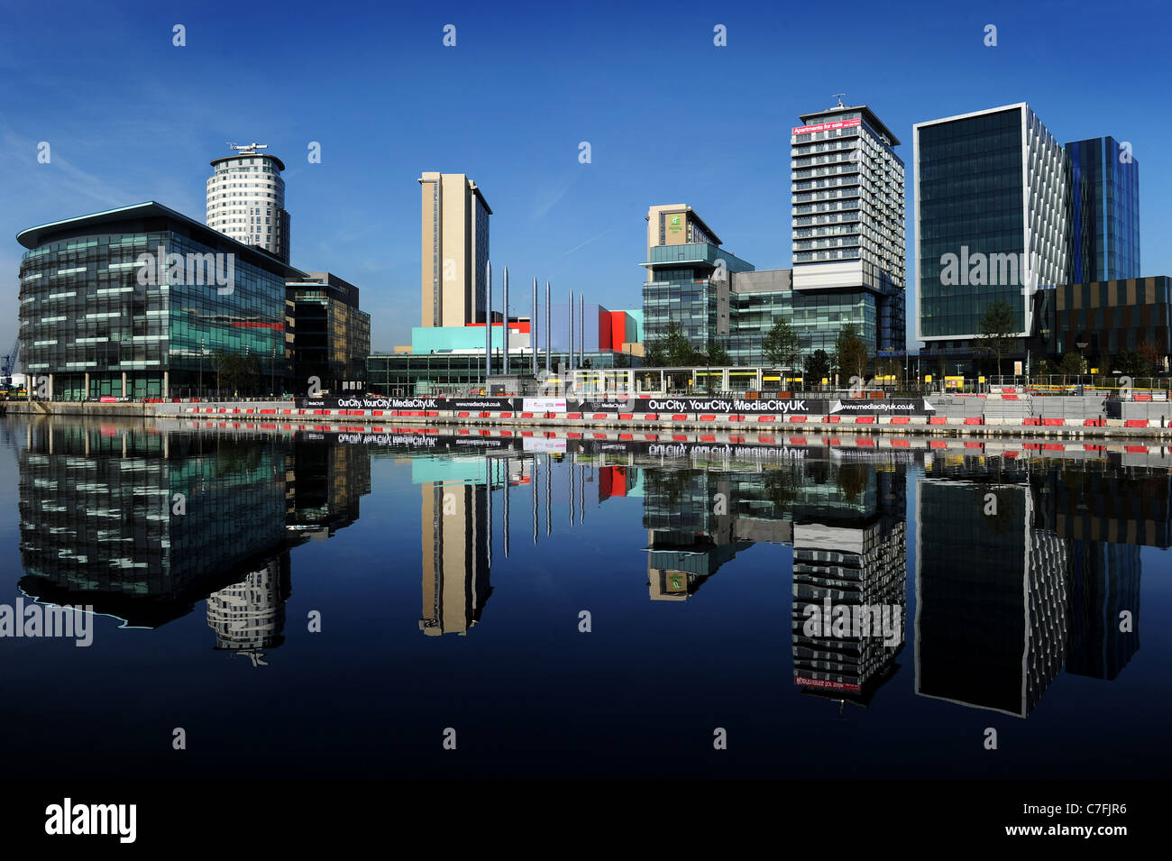 The new home of the BBC in the north at Media City, Salford, Greater Manchester, England. - Stock Image