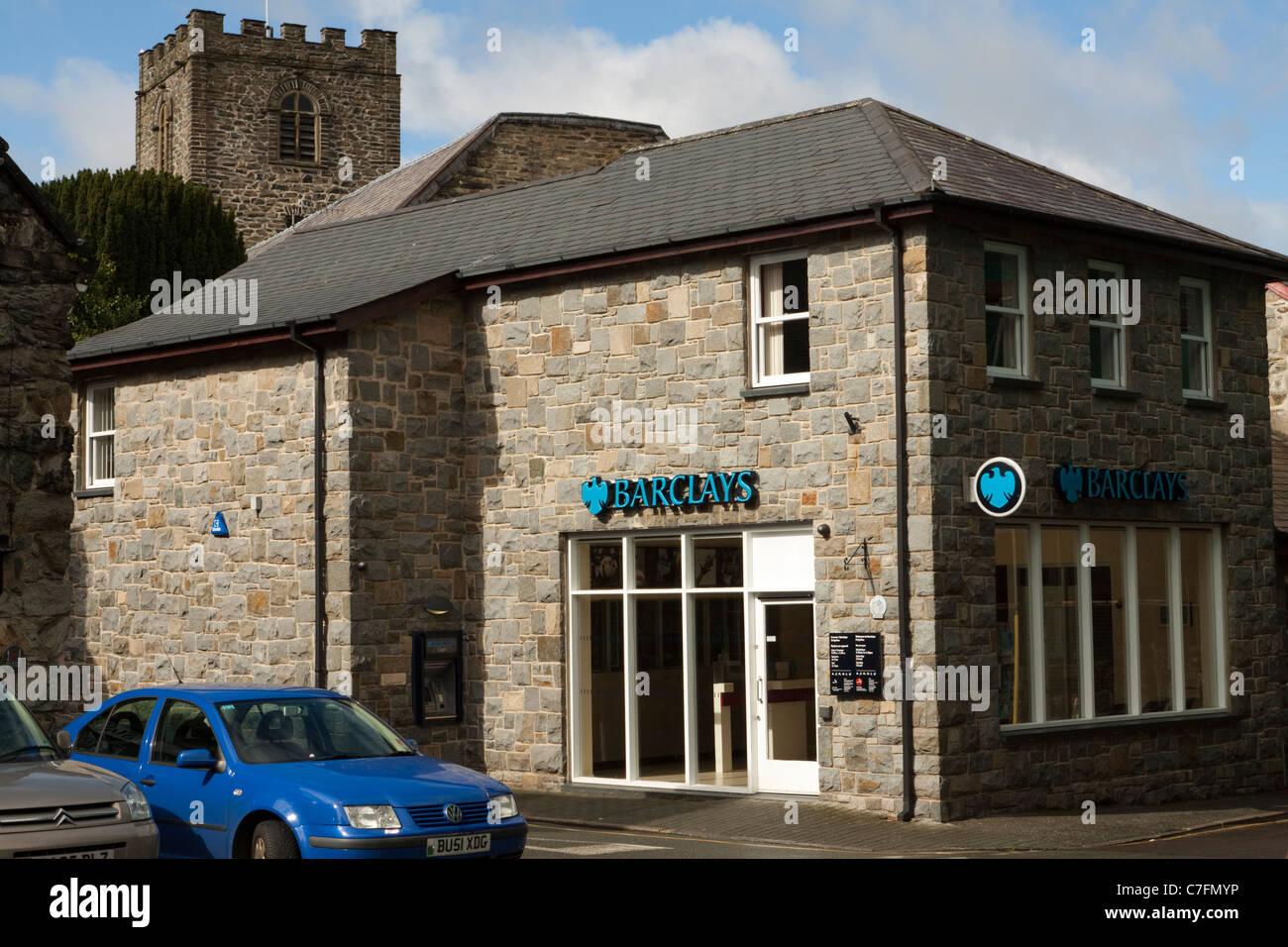 Barclays bank, Dolgellau, Wales, UK - Stock Image