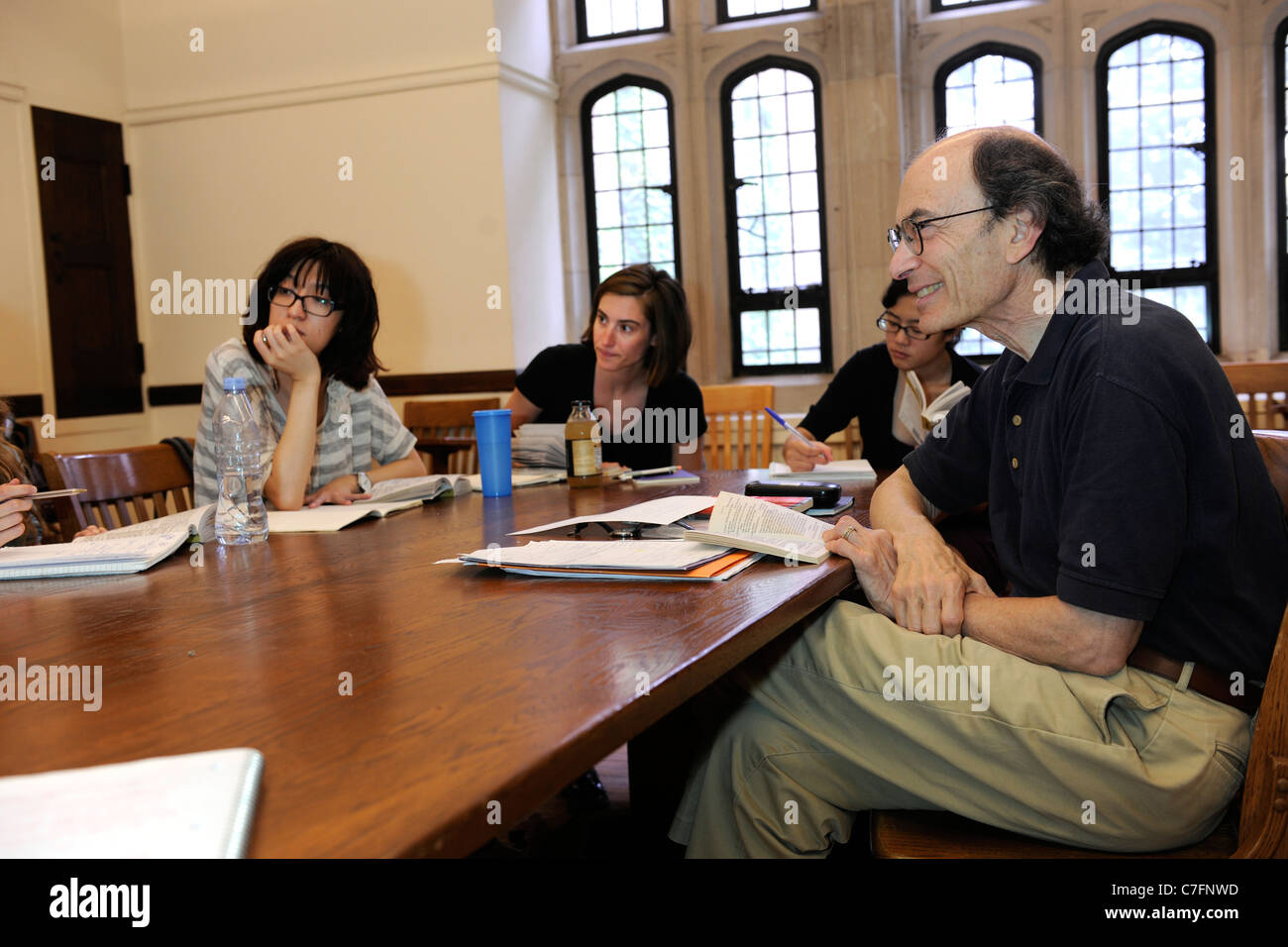 Shakespeare class. Yale University Summer School. - Stock Image