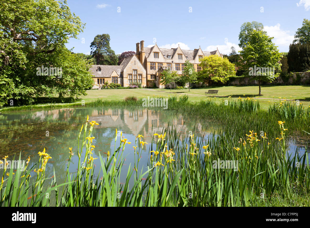 Stanway House in the Cotswold village of Stanway, Gloucestershire Stock Photo