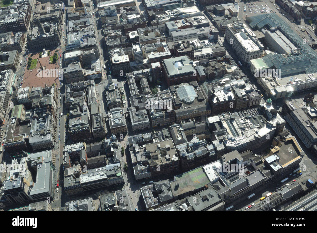 Glasgow City Centre from the air - Stock Image
