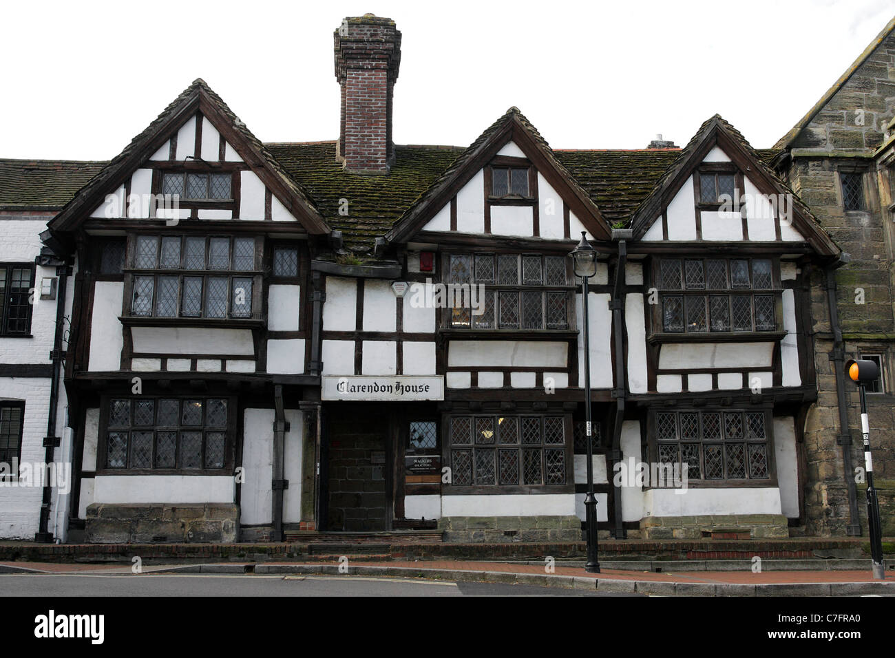 Tudor architecture in High St, East Grinstead  The longest