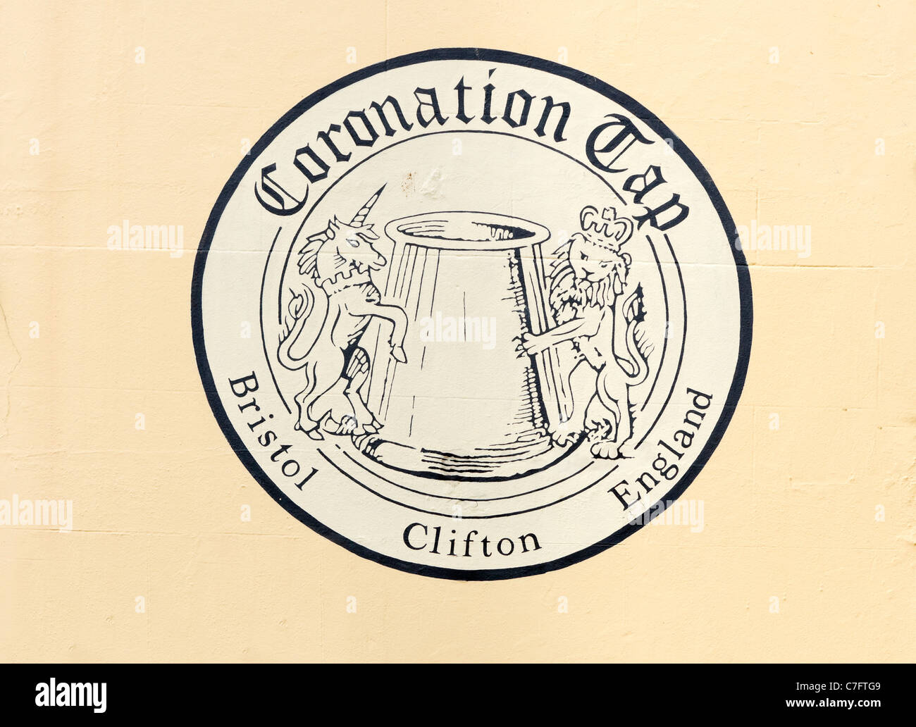 The Coronation Tap pub in Clifton, famous for its Scrumpy cider, Bristol, Avon, UK - Stock Image