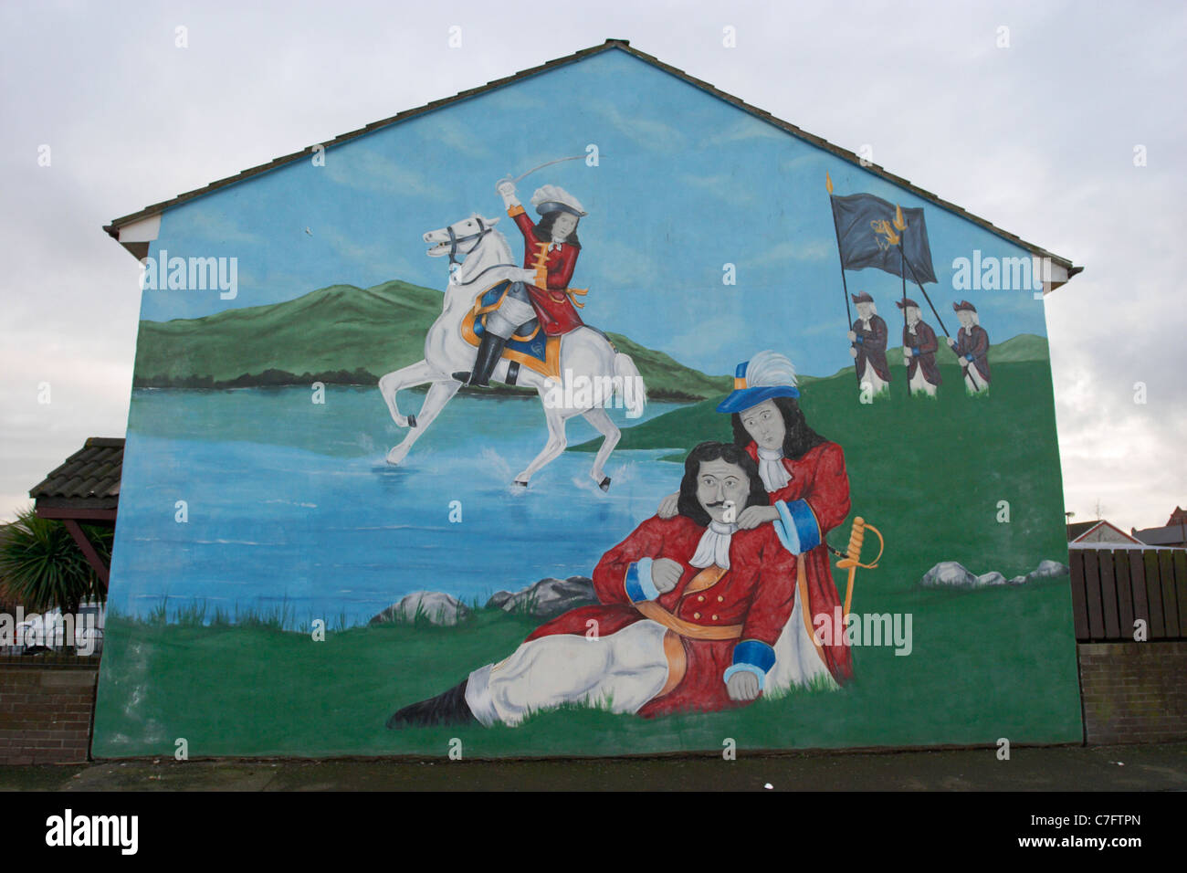 king billy king james battle of the boyne loyalist wall mural Stock
