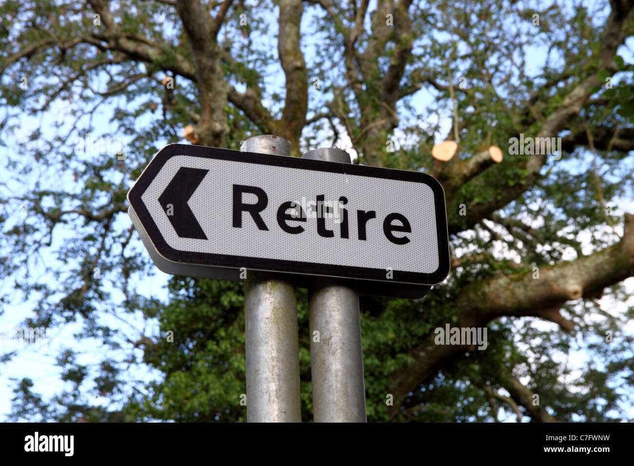 Signpost at Retire, Bodmin, Cornwall, UK. - Stock Image