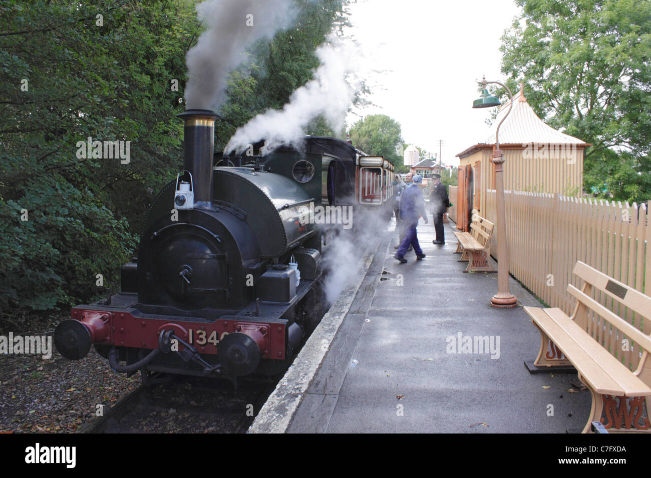 0-4-0 Saddle Tank Steam Locomotive at Didcot Railway Centre September 2011 - Stock Image