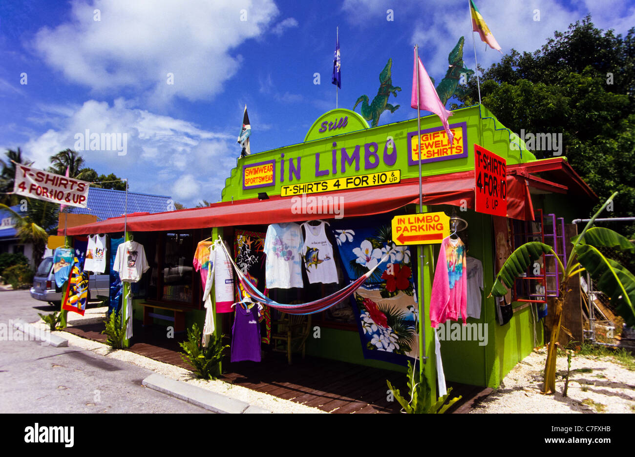 Colorfull shop at the popular tourist destination and beach playground of Key West in Florida, USA - Stock Image