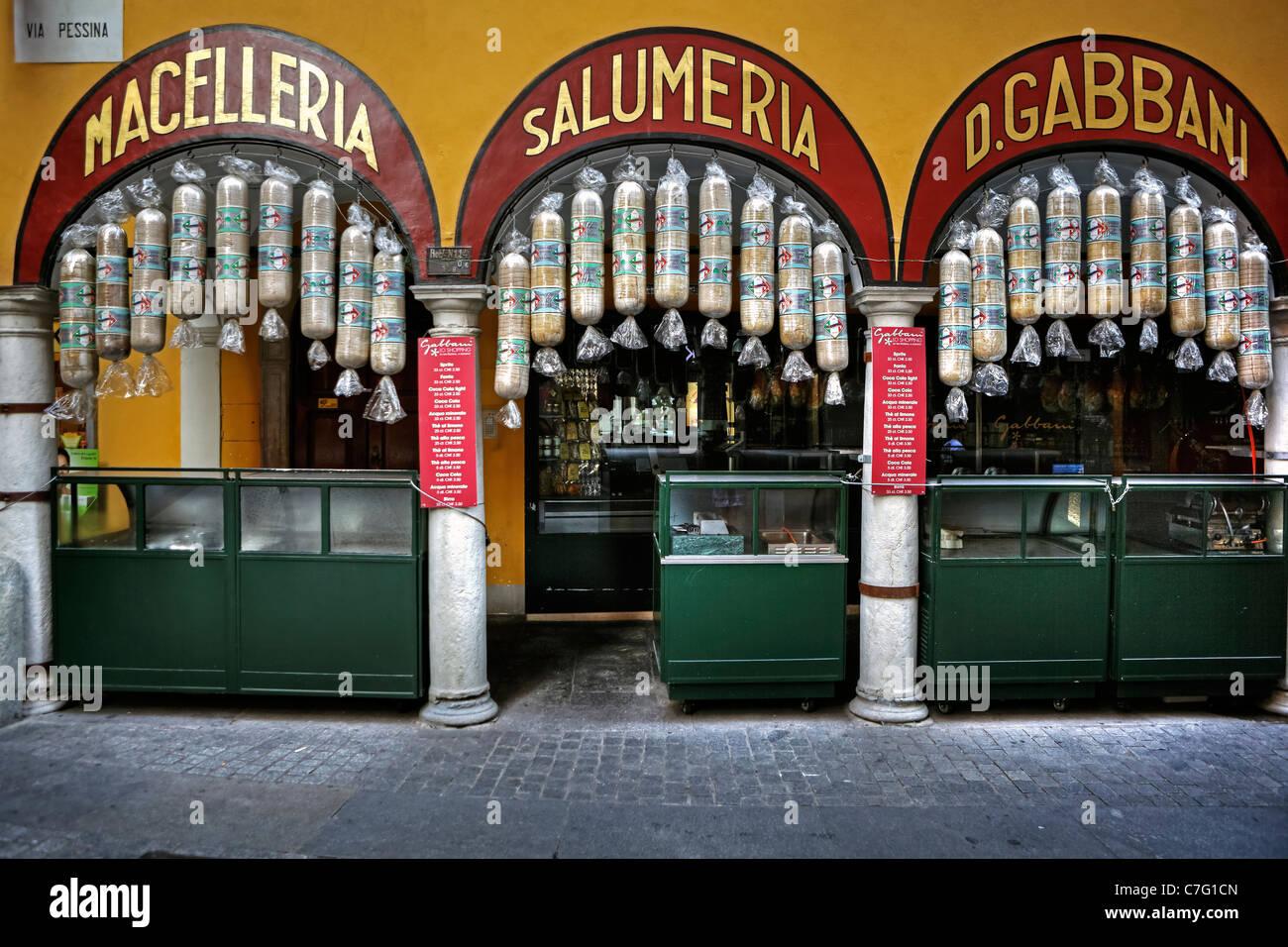 The famous Salumeria in Lugano. Stock Photo