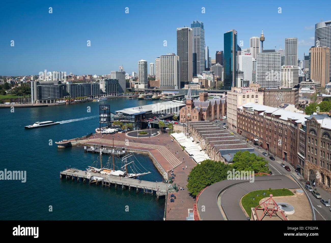 Overseas passenger terminal, The Rocks, Sydney CBD, Australia - Stock Image