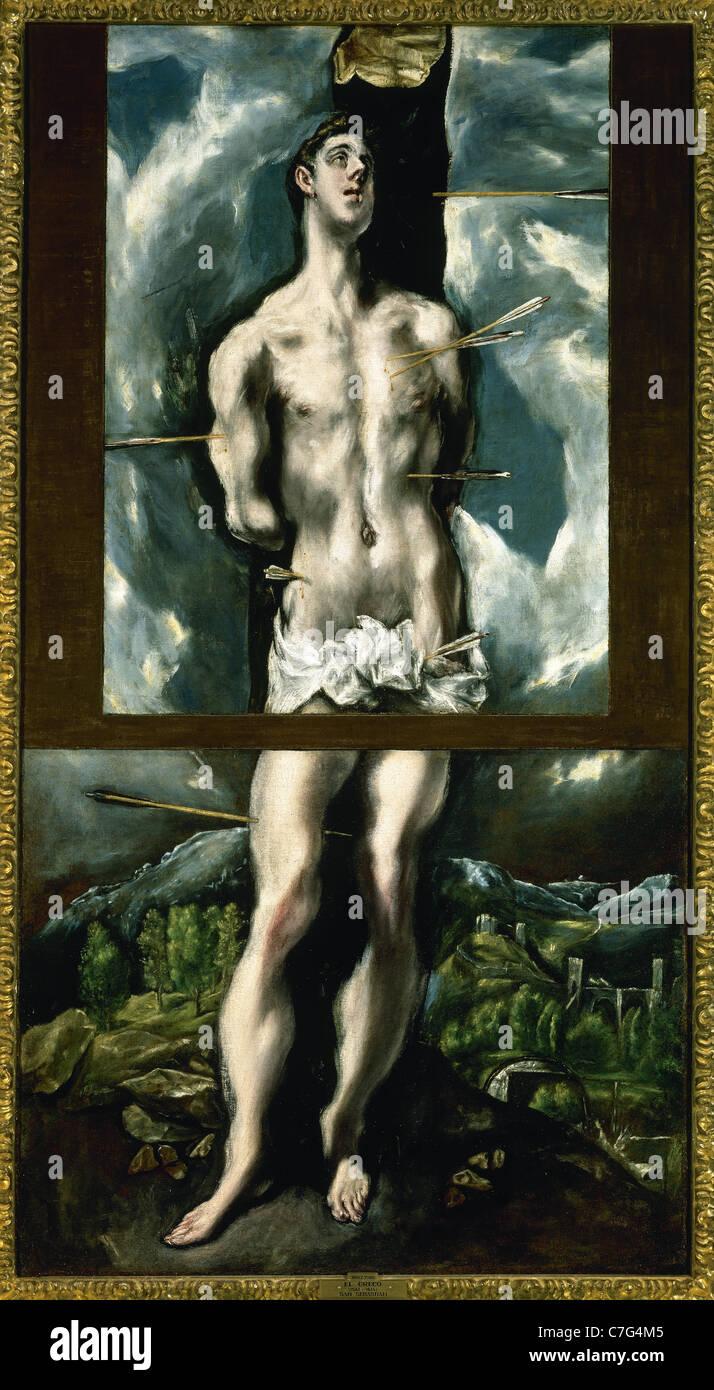El Greco (1541-1614). Saint Sebastian. Prado Museum. Madrid. Spain. Stock Photo