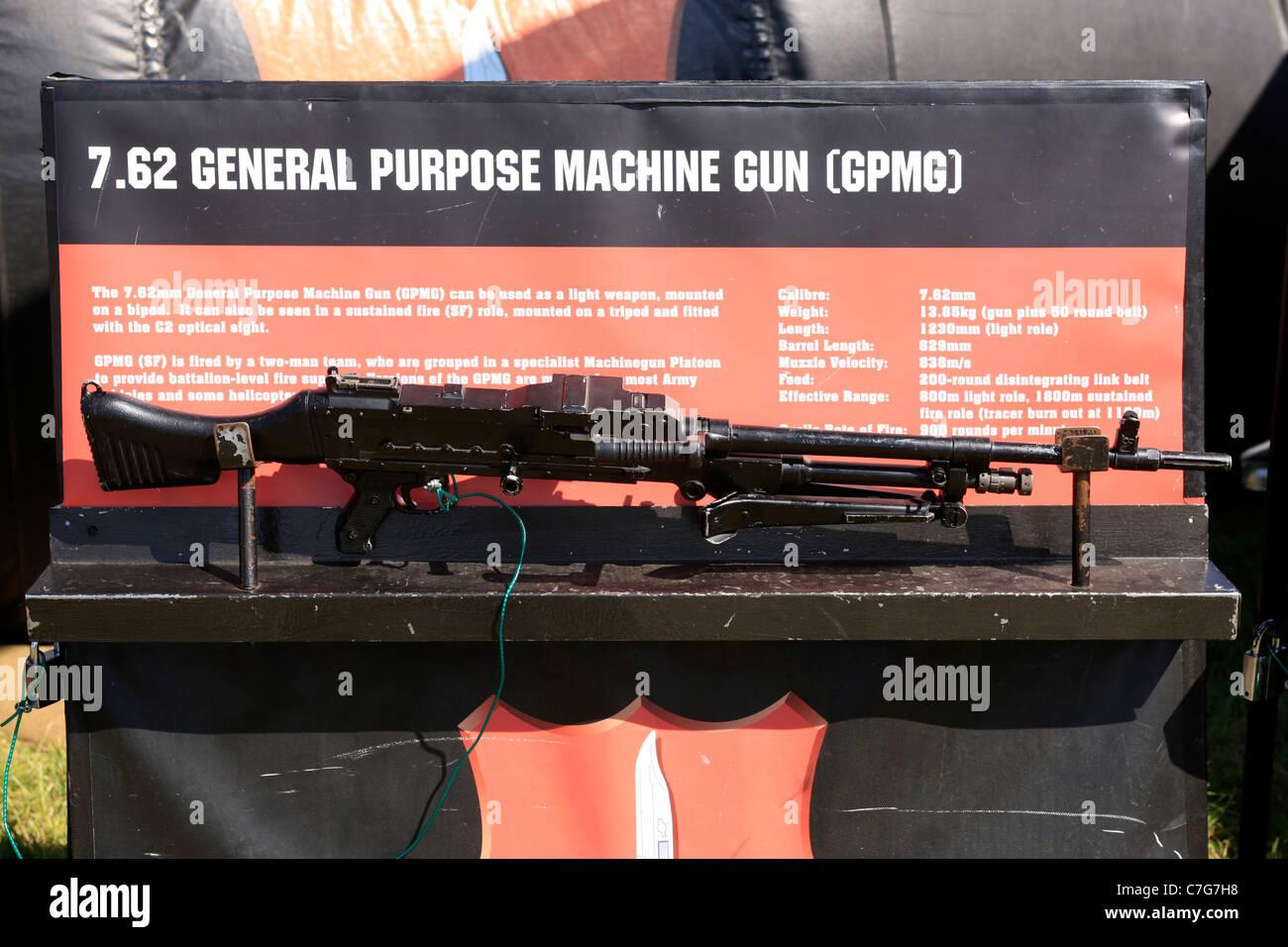 British Army General Purpose Machine Gun - Stock Image