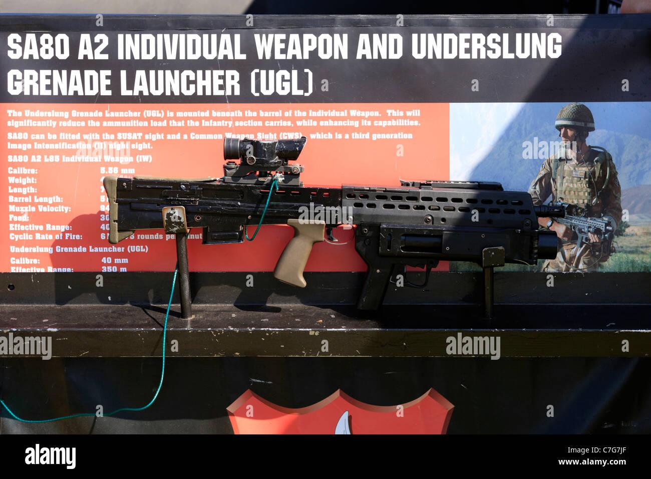 British Army SA80 Infantry Rifle - Stock Image