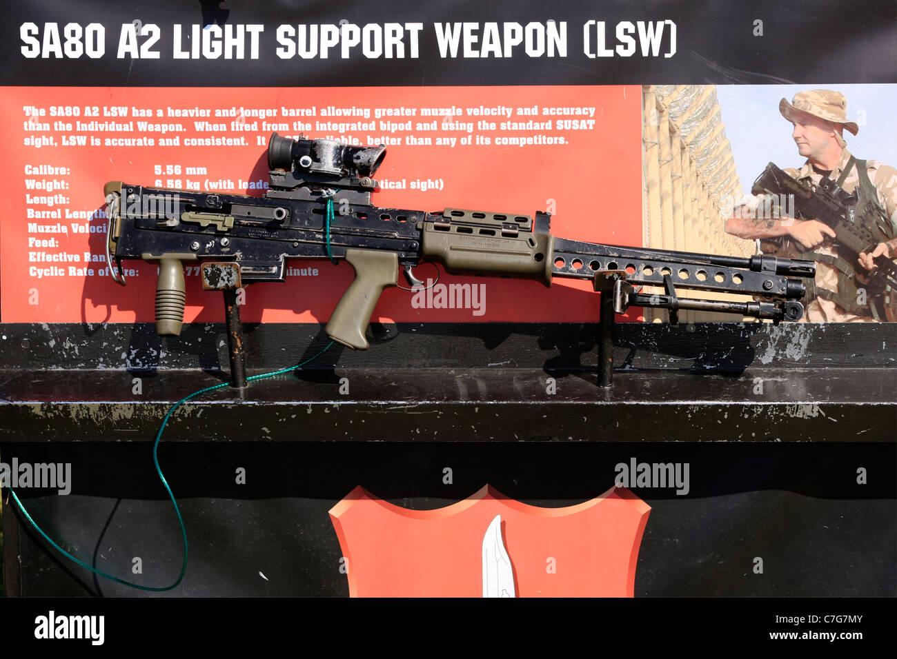 British Army SA80 Light Machine gun - Stock Image