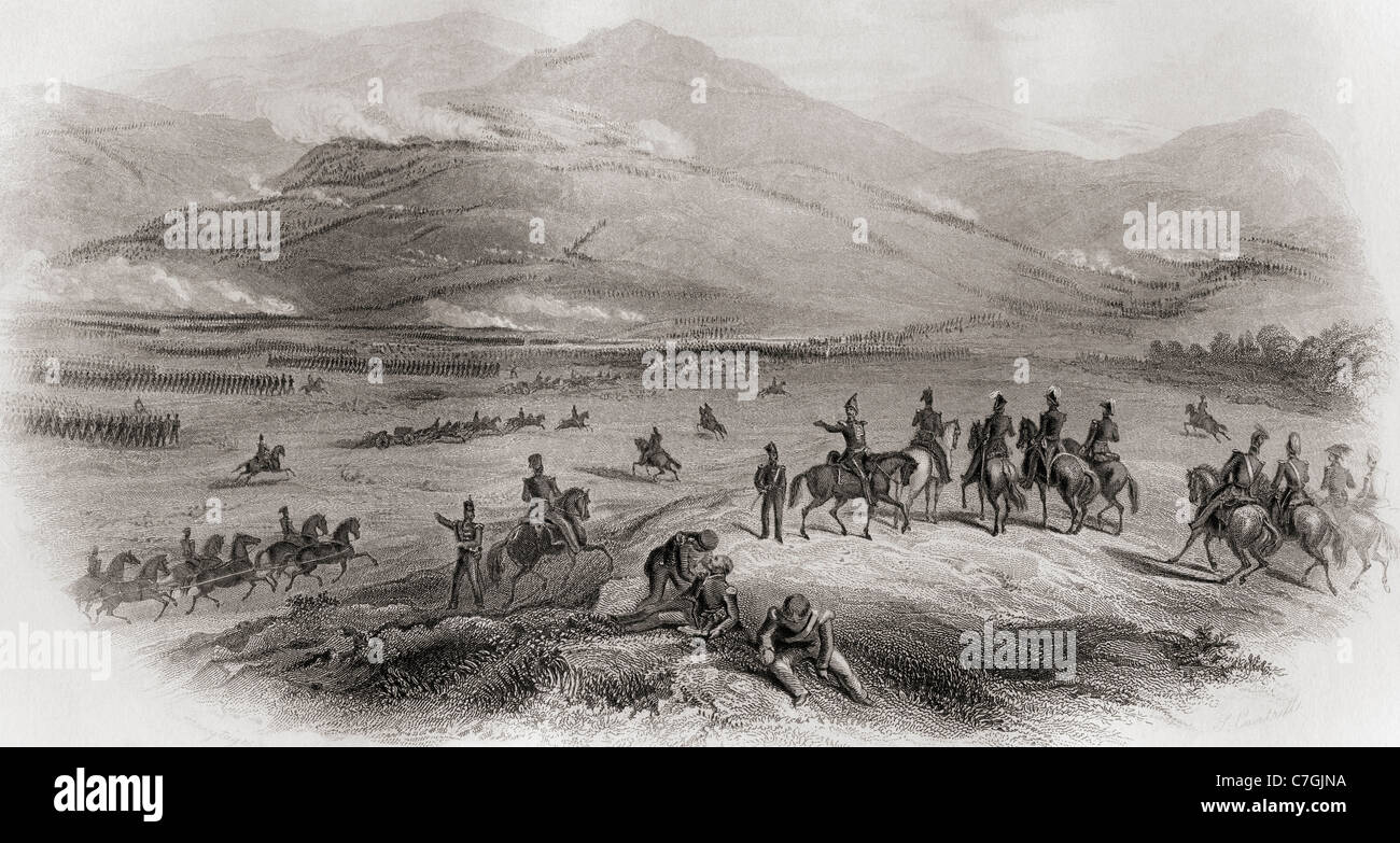 The Battle of the Alma River, during The Crimean War, Crimea in 1854. - Stock Image