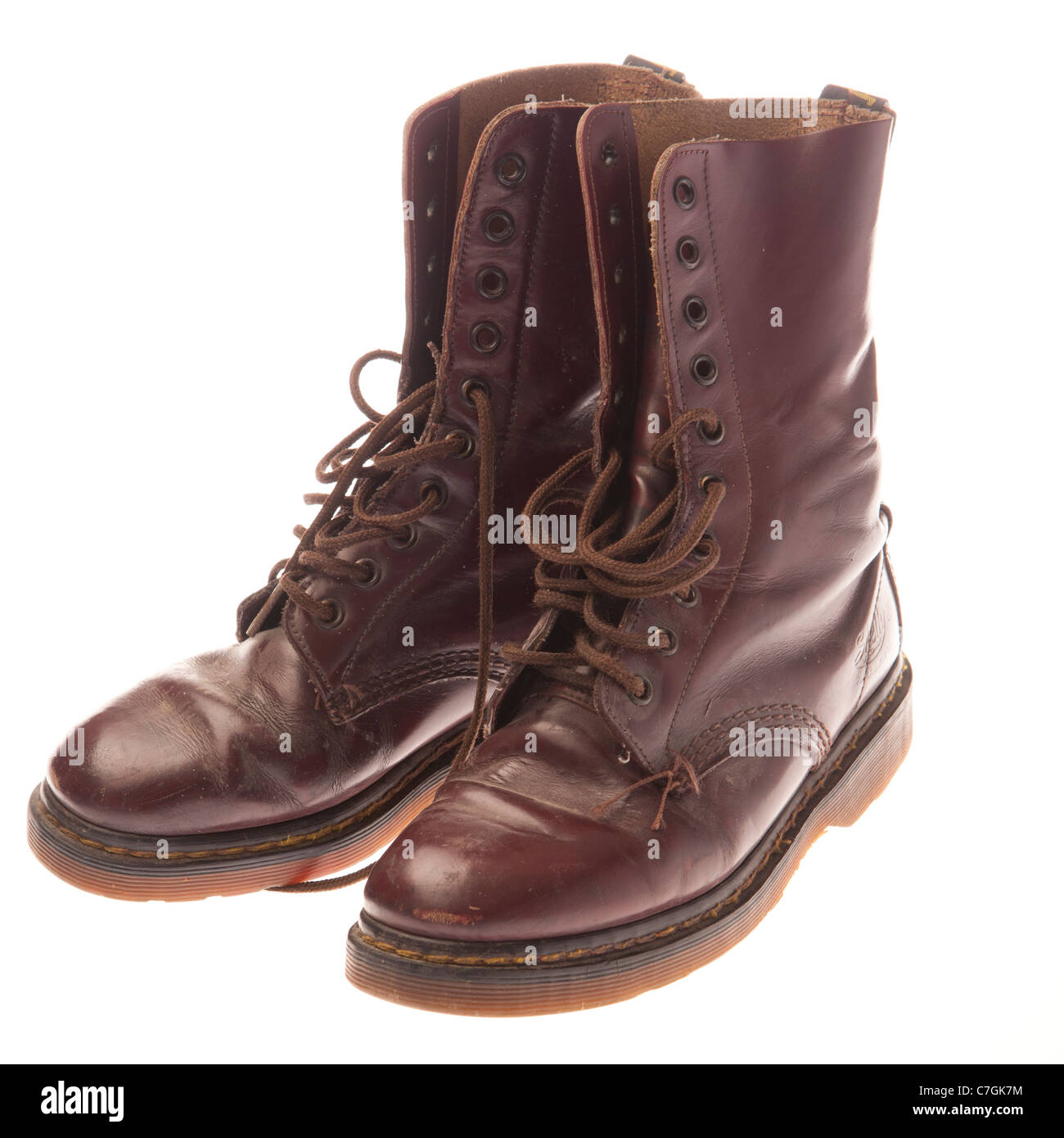 a pair of classic cherry red 10 eyelet DM Doc Martens Shelly AirWair women s  leather boots 496c52c72d