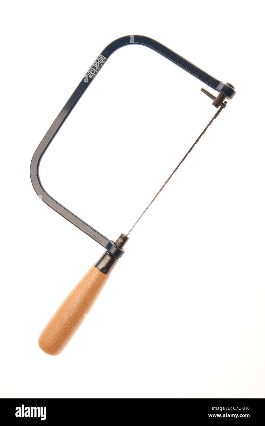 a jig-saw hand woodworking tool - Stock Image