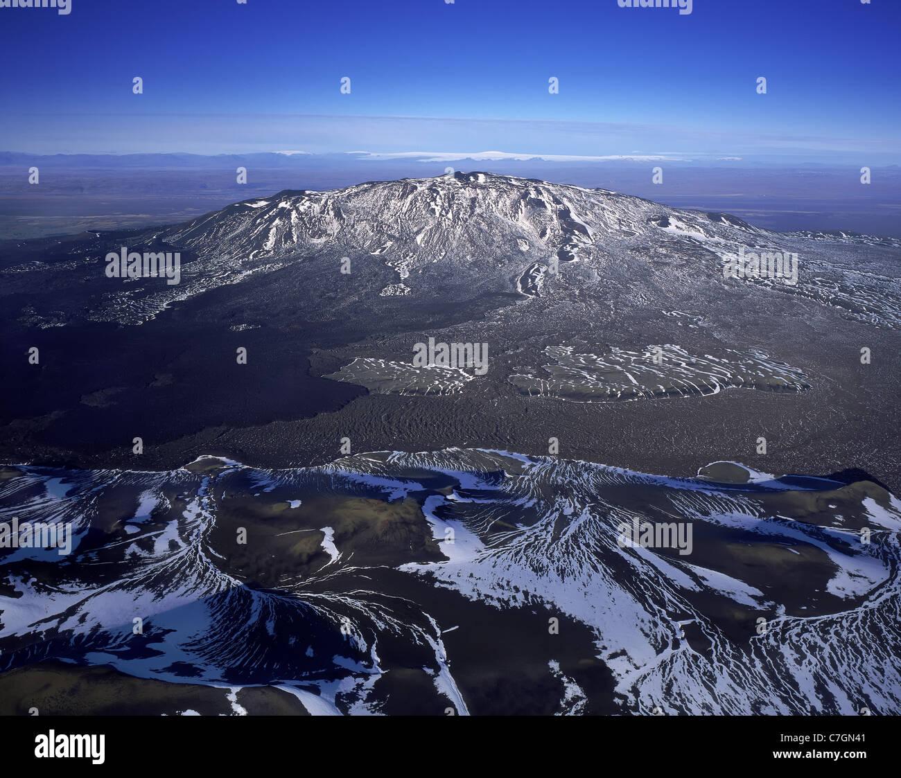 Mt Hekla, active volcano, Iceland - Stock Image