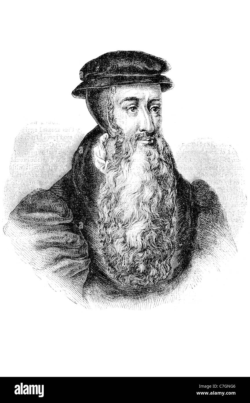 John Knox Scottish pastor reformer clergyman Protestant Reformation church ordained Catholic priesthood political - Stock Image