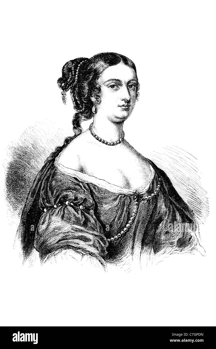 Rachel Wriothesley Lady Russell English noblewoman heiress author Rye House Plot letter writer John Tillotson portrait - Stock Image