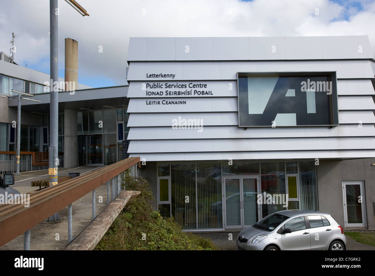 letterkenny public services centre town council offices county donegal county council building republic of ireland - Stock Image
