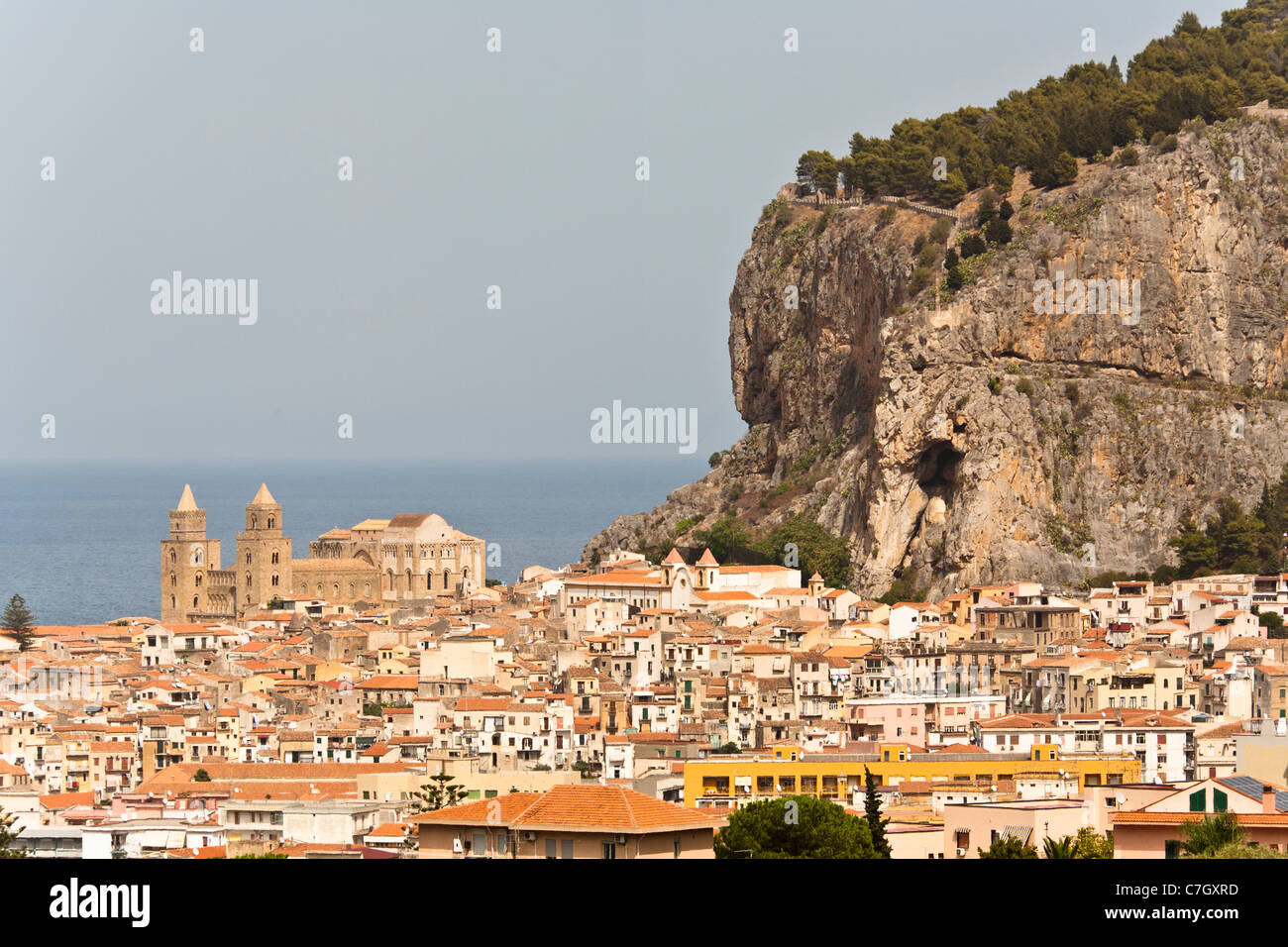 View of Cefalu, Sicily, Italy Stock Photo