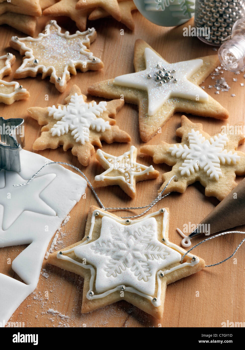 Christmas cookies biscuits - Stock Image