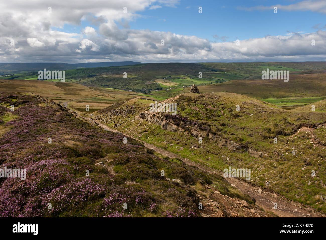 Northern Pennines remote moorland above Rookhope - Stock Image
