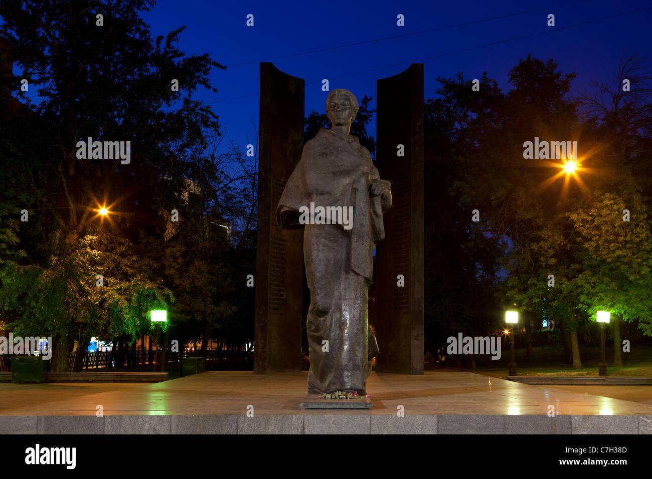 Monument to Vladimir Lenin's wife Nadezhda Krupskaya (1869-1939) in Moscow, Russia - Stock Image