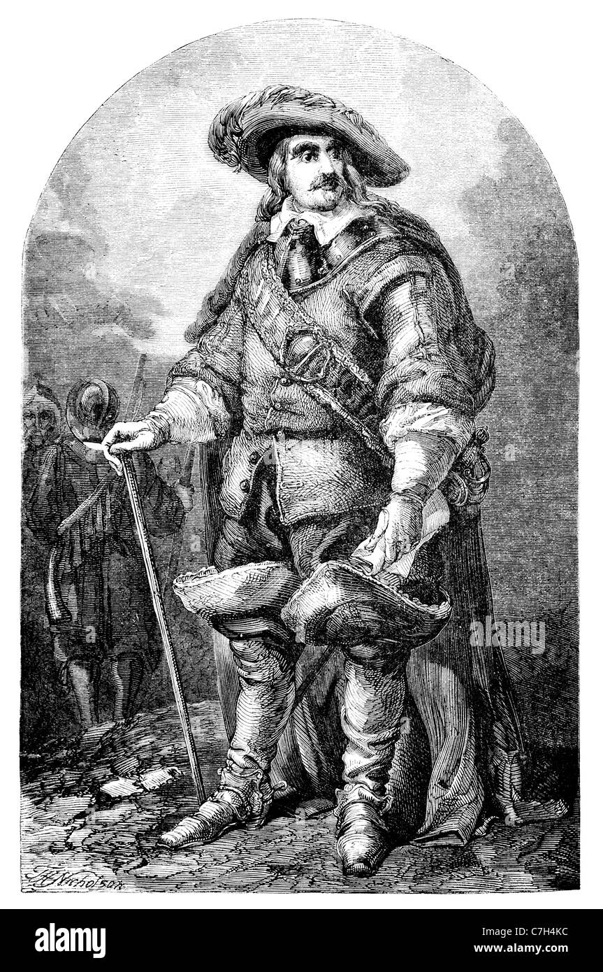 Oliver Cromwell English military political leader monarchy republican Commonwealth Lord Protector commander New - Stock Image