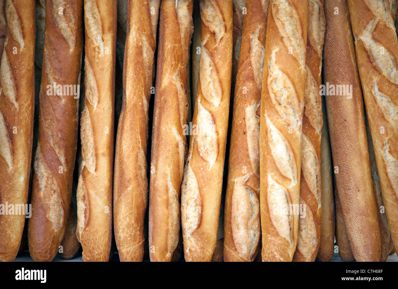 Symbols of French culture,Baguette de tradition française - Stock Image
