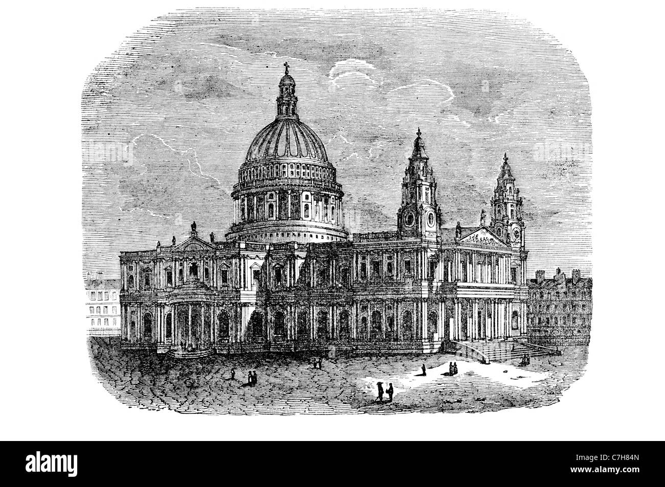 St Paul's Cathedral Church of England religion architecture Paul Apostle Ludgate Hill City London Bishop London - Stock Image