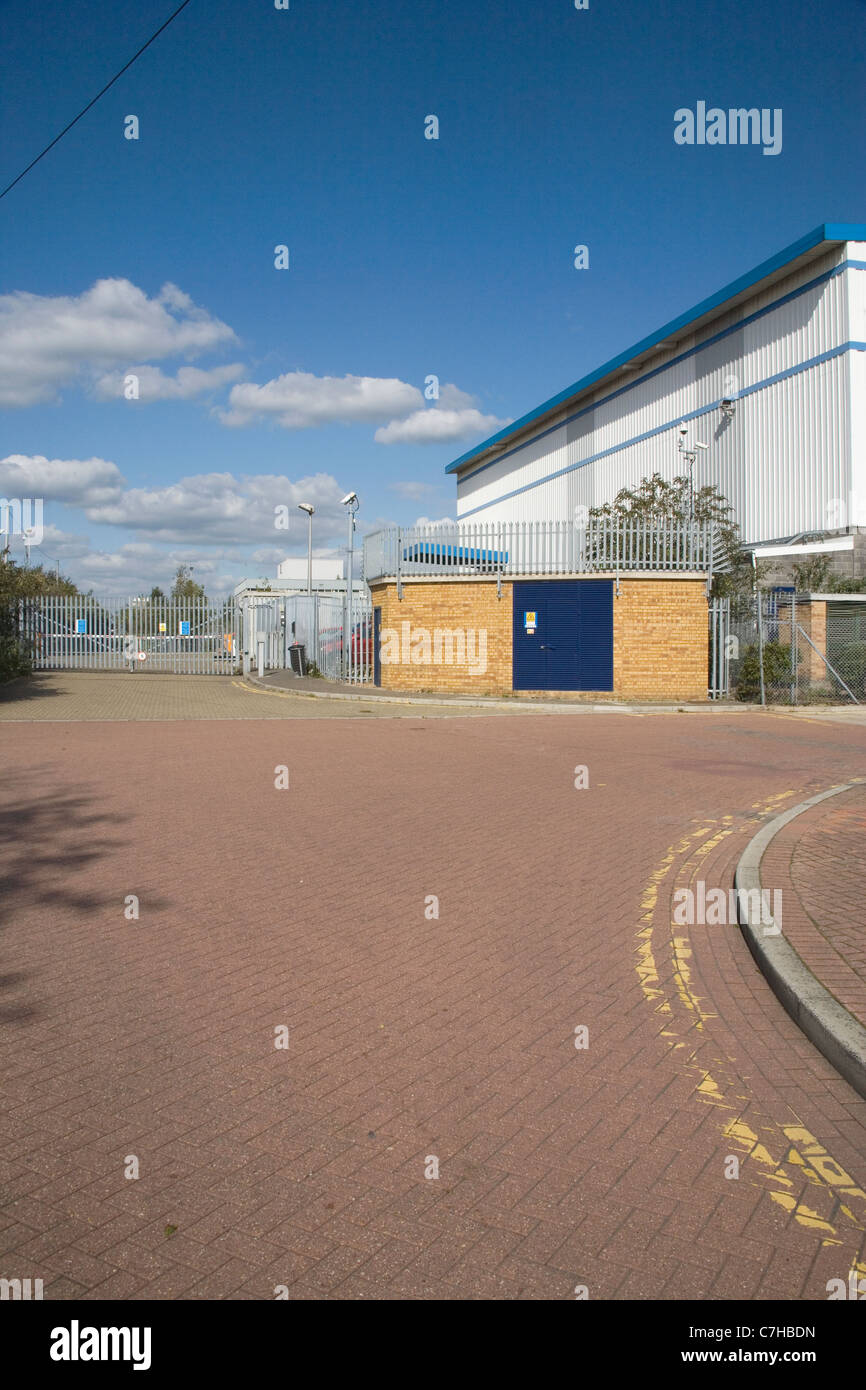 secure warehouse and distribution centre in west ham london - Stock Image