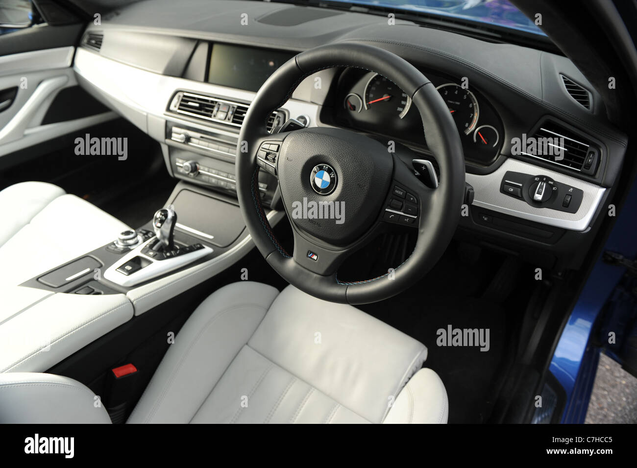 2011 BMW M5 saloon  the new M5 by BMW Stock Photo