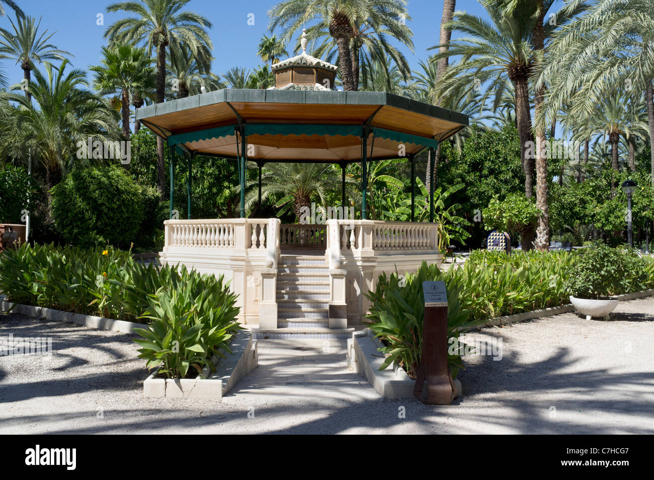 Bandstand in Municipal Park, Elche Spain - Stock Image