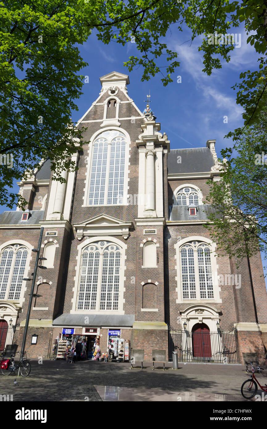Westerkerk, Amsterdam, Holland. A  Dutch Renaissance style church by Hendrick de Keyser (city architect). - Stock Image