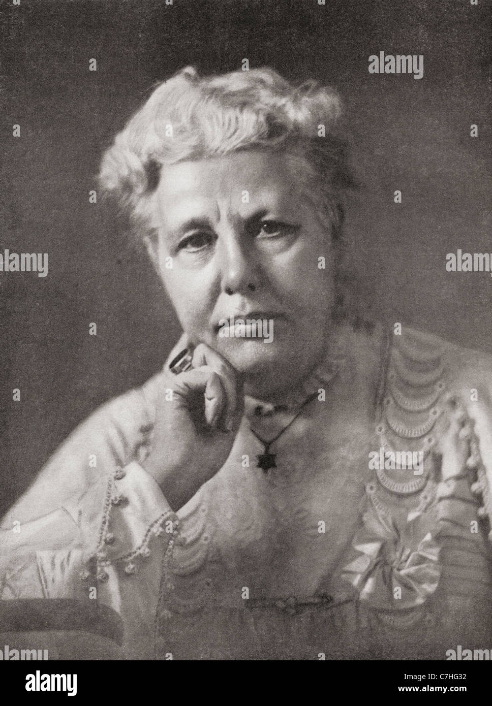 Annie Besant, 1847 – 1933. British Theosophist, women's rights activist, writer, orator and supporter of Irish - Stock Image