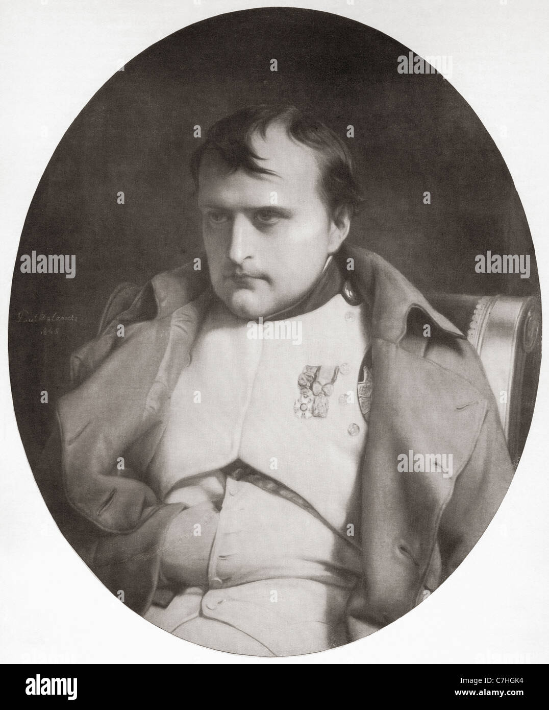Napoleon Bonaparte, 1769 – 1821. French military and political leader and Emperor of the French from 1804 to 1815 - Stock Image