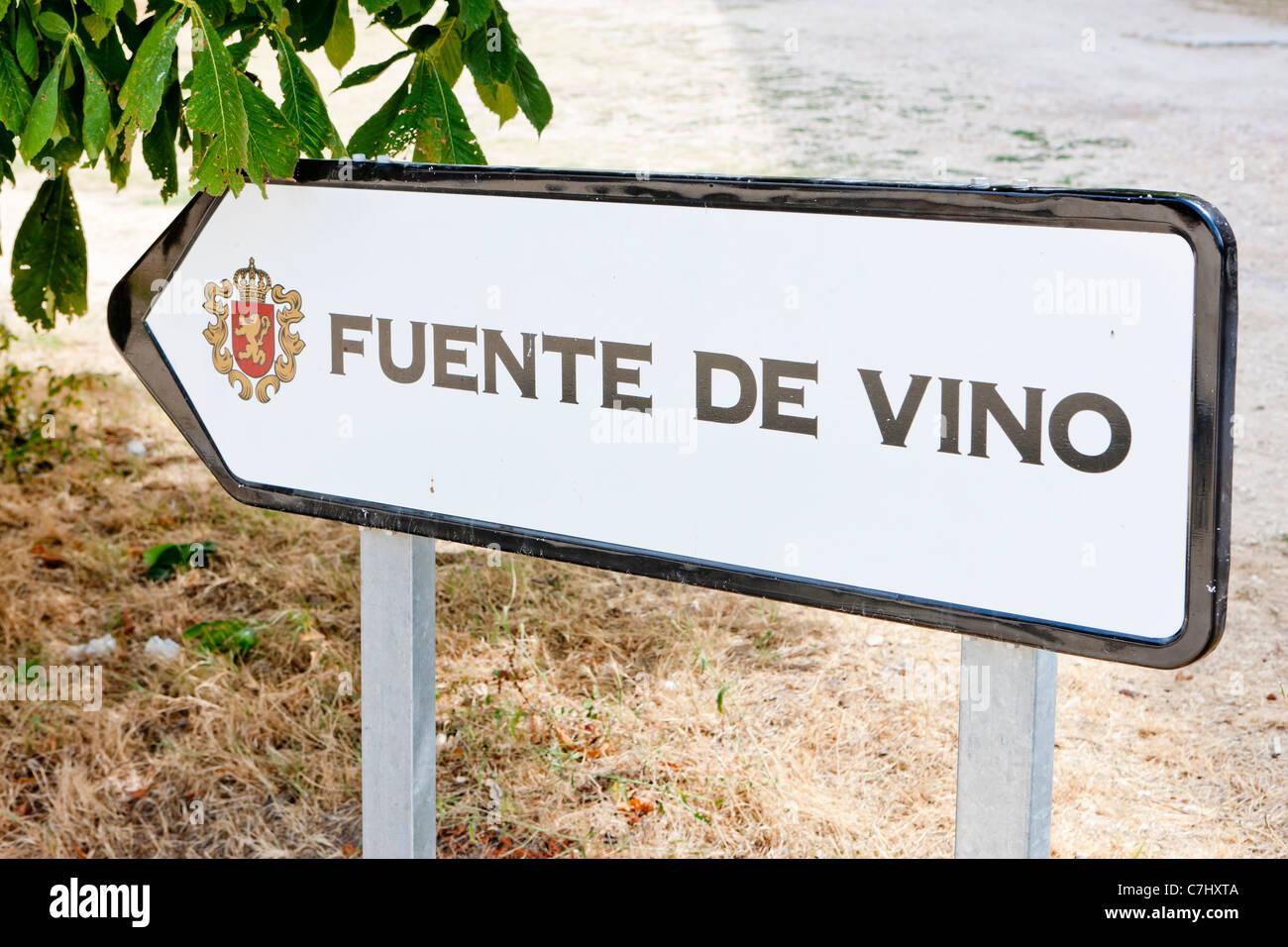 Irache, Road to Santiago de Compostela, Navarre, Spain Stock Photo