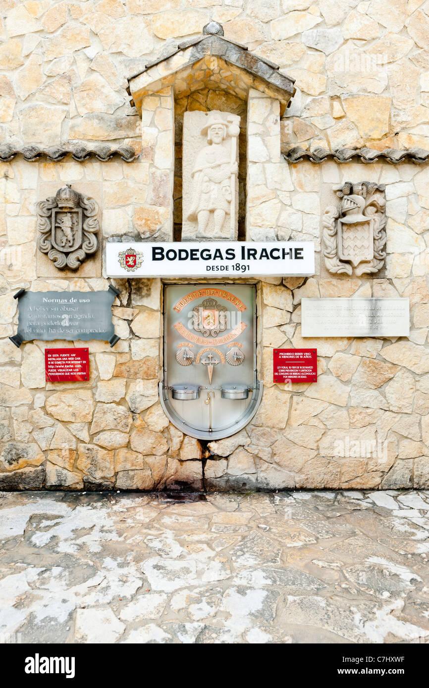 Irache Winery, Road to Santiago de Compostela, Navarre, Spain - Stock Image