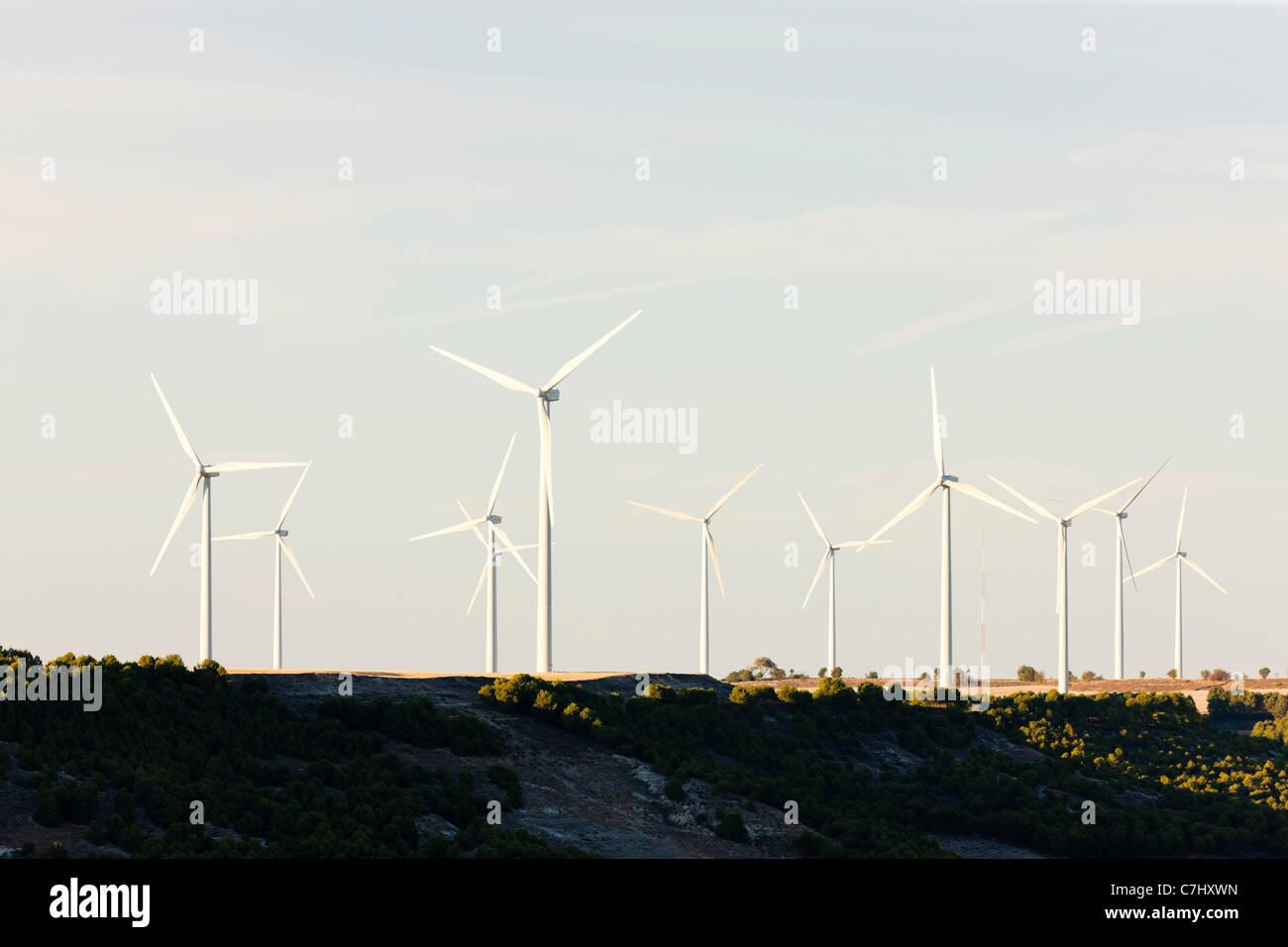 wind turbines, Castile and Leon, Spain - Stock Image