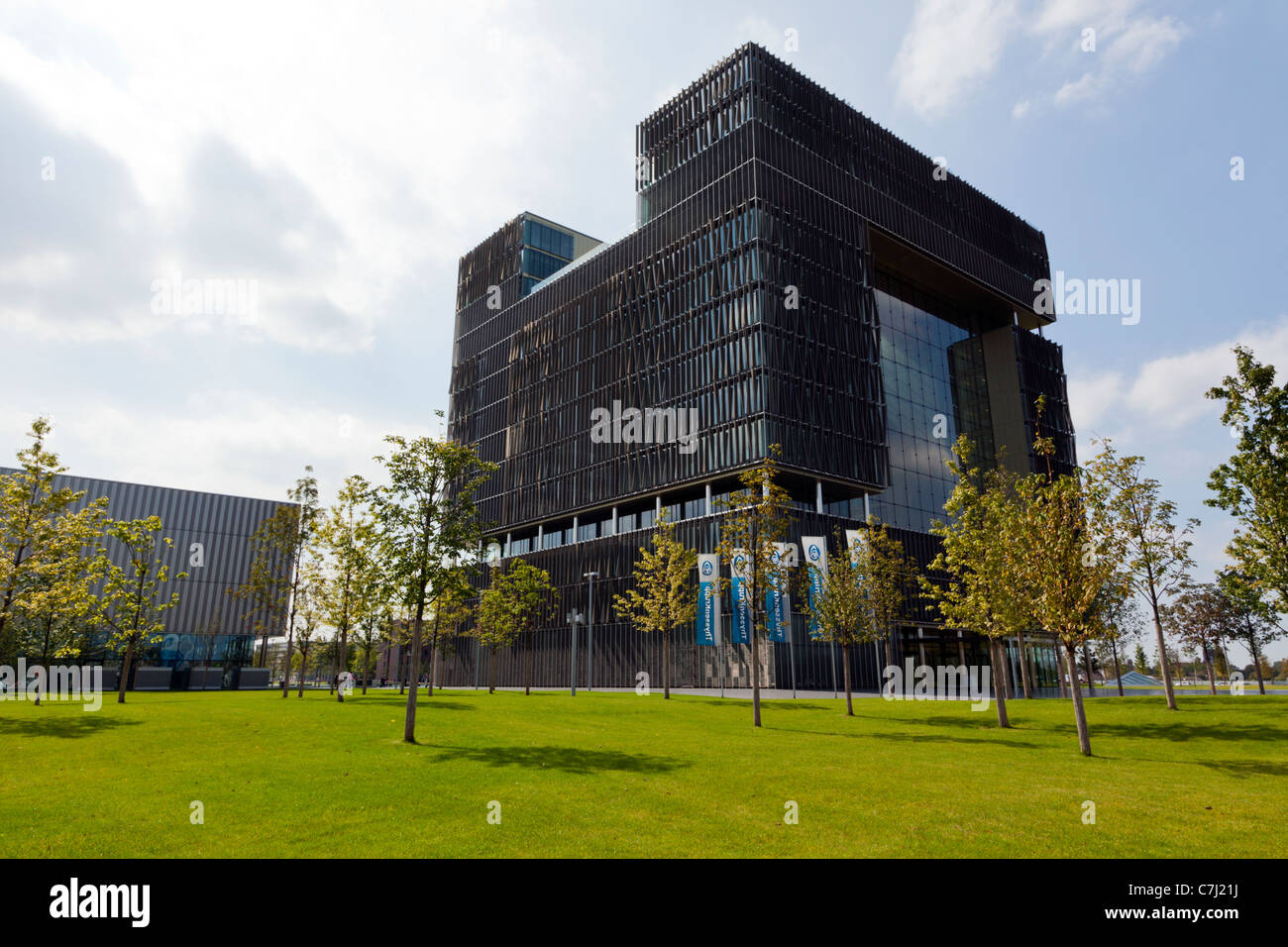 new ThyssenKrupp headquarters building at Essen, Germany - Stock Image
