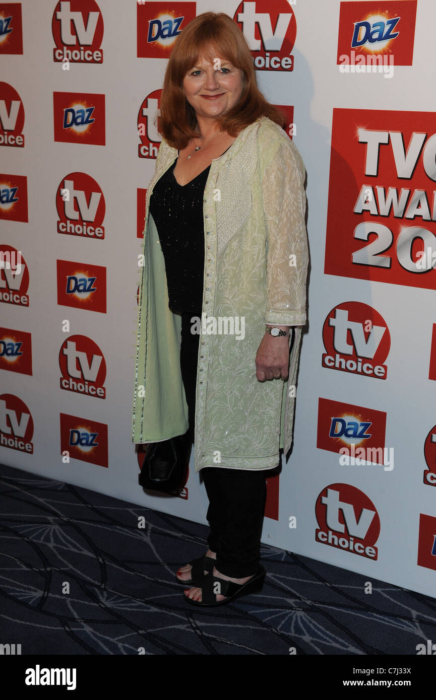 LESLEY NICOL TV CHOICE AWARDS 2011 THE SAVOY HOTEL THE STRAND LONDON ENGLAND 13 September 2011 Stock Photo
