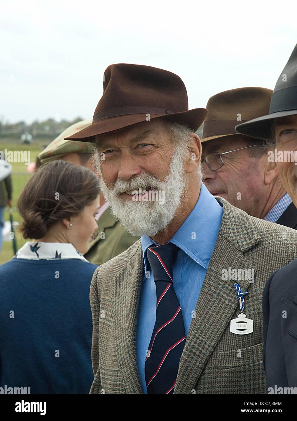 Prince Michael of Kent enjoying 2011 Goodwood Revival Meeting - Stock Image