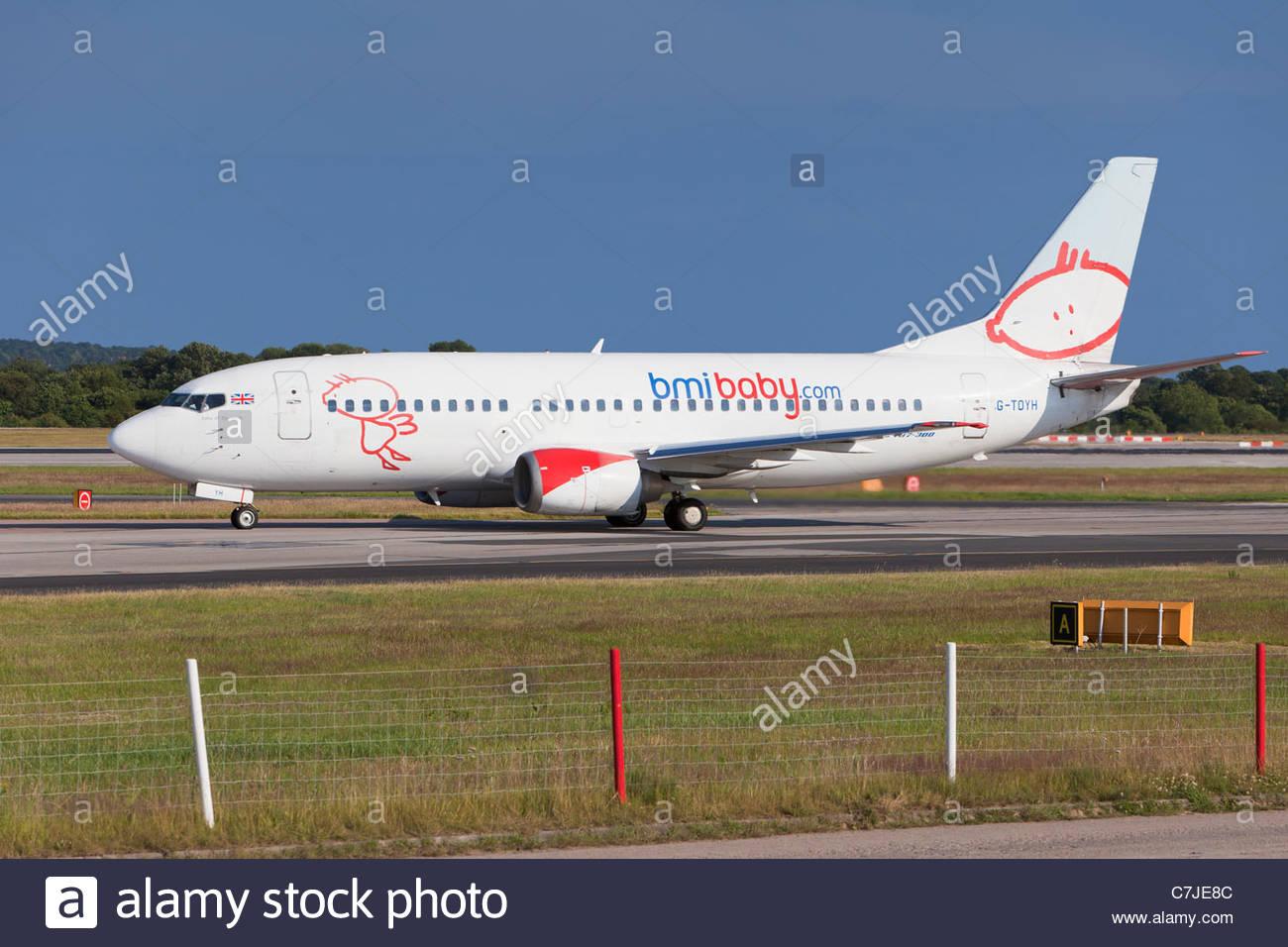 BMI Baby aircraft, England - Stock Image