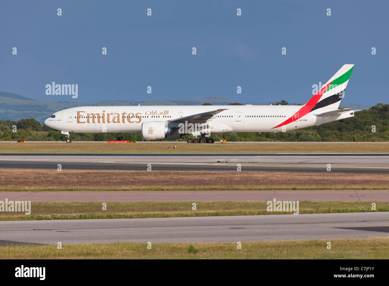 Emirates Airlines aircraft, England - Stock Image
