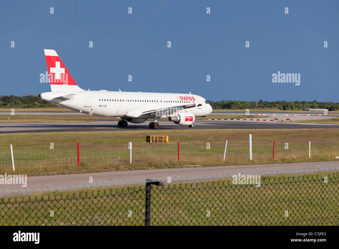 Swiss air aircraft, England - Stock Image